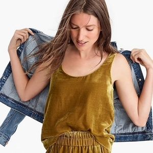 JCREW Velvet Gold Tank Top